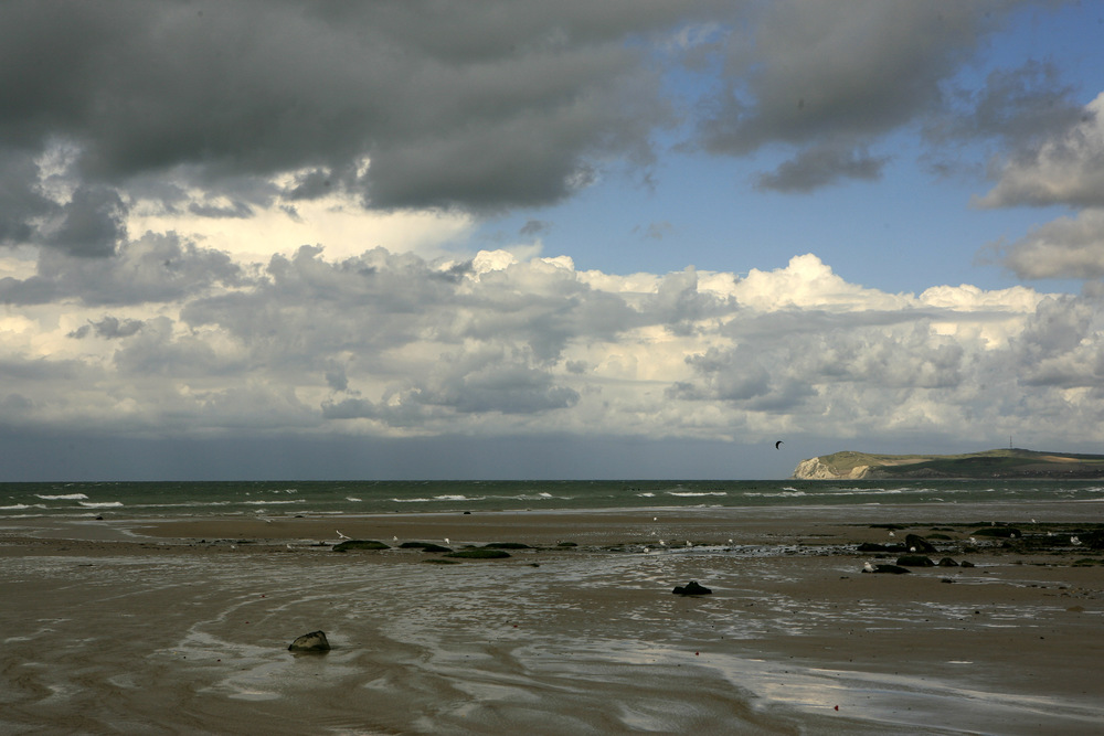 Wissant Bay Beach at after English Channel Swim