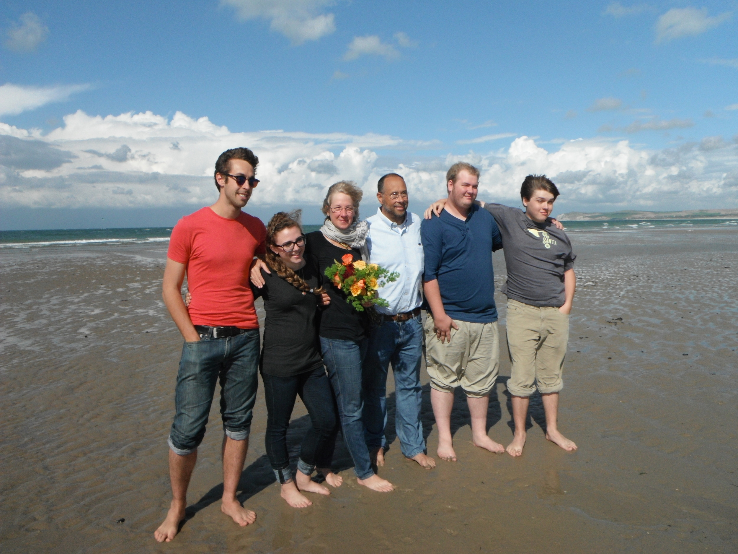 McConnell Familily after English Channel Swim