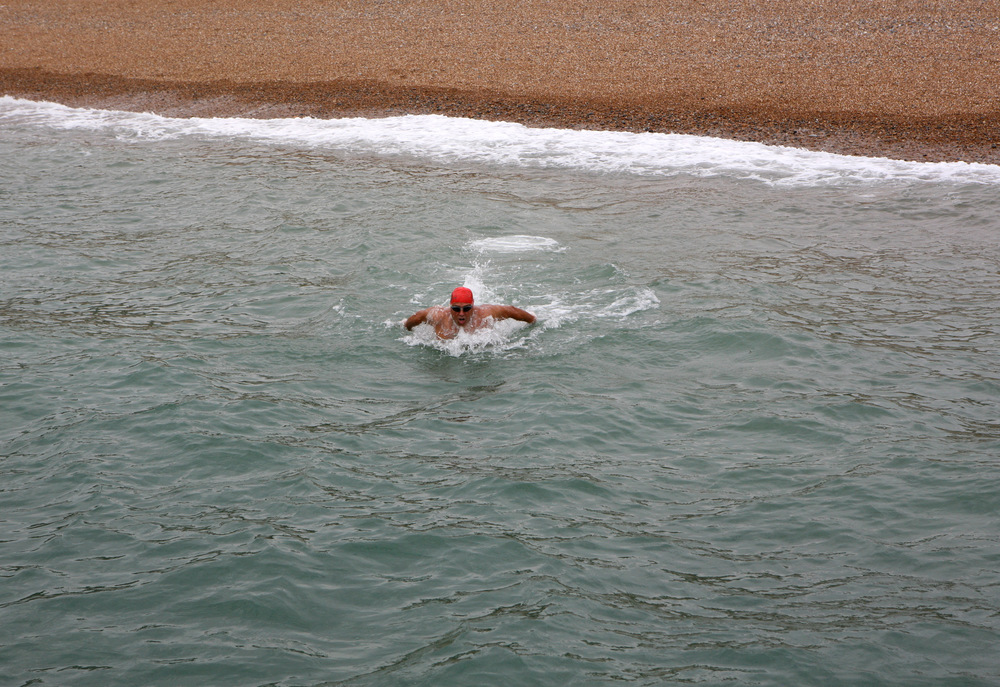 Starting the Channel Swim in Dover
